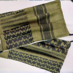 Mascherina militare Kefiah cotone 100 % lavabile con possibilita' di inserire filtrino protezione
