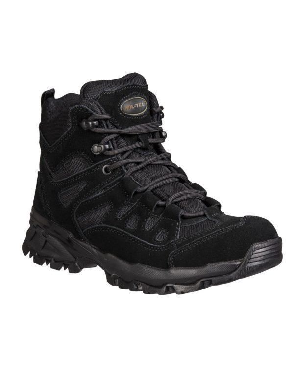 """Anfibi 1/2 caviglia militari neri """"SQUAD 5"""""""