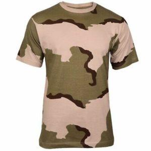 T-shirt militare 3-colori desert