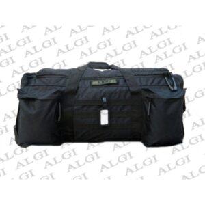 """Borsone trolley militare con ruote 130 litri nero: il tessuto è in poliestere tessuto Oxford 600D con rivestimento in PVC,borsa è ben fatto con materiali di alta qualità, ed è molto robusto, è impermeabile, che è buono per la sicurezza dell'utente. Questa borsa ha grande capacità e multi-funzione, la Tascone interno nella parte superiore Tasca interna in rete 2 Tasche esterne 1 Tasca con sistema M.O.L.L.E. Divisorio imbottito regolabile 3 Ruote """"Heavy Duty"""" Maniglia di trascinamento regolabile Fondo rinforzatosi può mettere gli strumenti più grandi in borsa e piccoli utensili in piccolo sacchetto, disegno fondo. La borsone trolley militare coyoteha capienza ciarca 130 litri e le dimensione dei tre lati sono 80*56*34 cm"""
