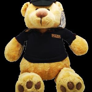 Orsetto peluche Polizia di Stato 100% Polyestere Altezza cm. 35 Tutti i materiali sono conformi agli standard EN71 (Sicurezza giocattoli sicuri)