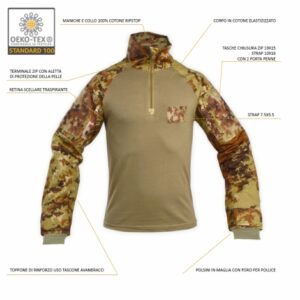 COMBAT SHIRT MILITARE VEGETATO ITALIANO