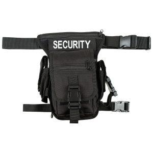 """Marsupio, """"Security"""", nero, attacco per gamba e cintura"""